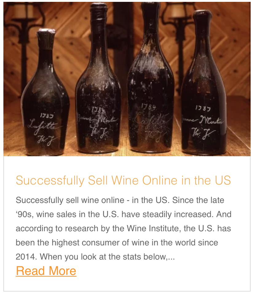 Successfully Sell Wine Online in the US