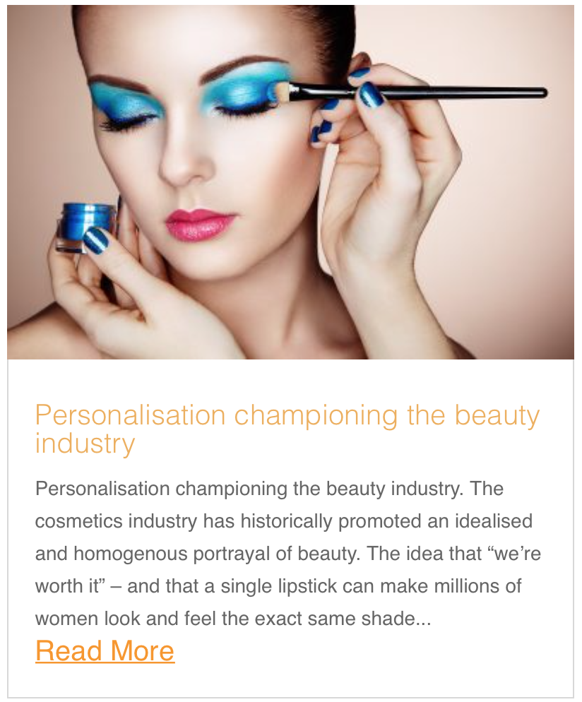 Personalisation championing the beauty industry