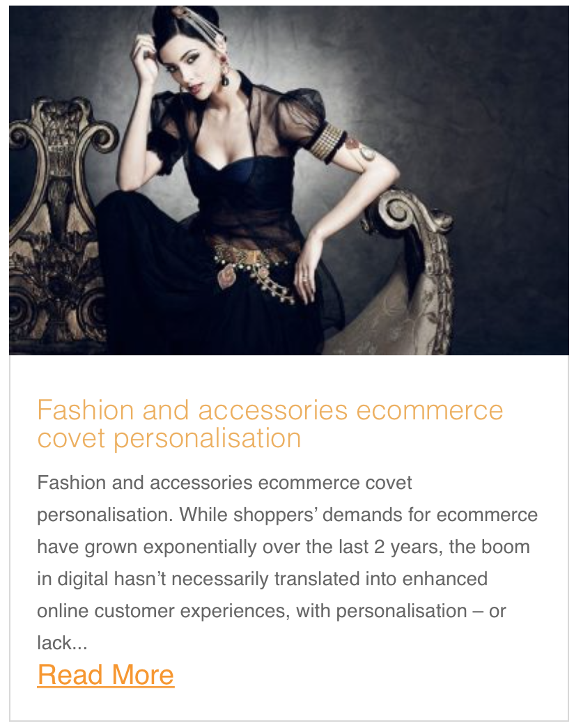 Fashion and accessories ecommerce covet personalisation