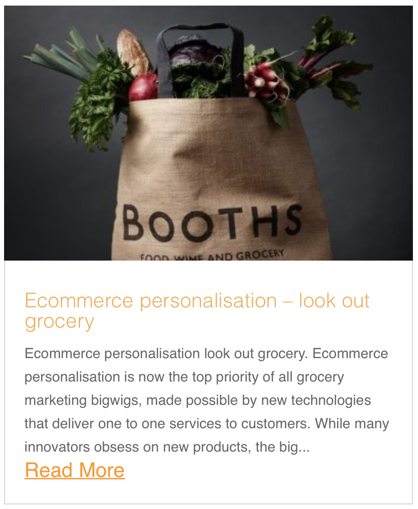 Ecommerce personalisation – look out grocery